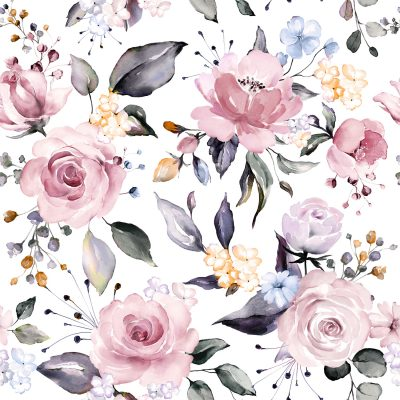 Pre Order Blooming Pink floral white