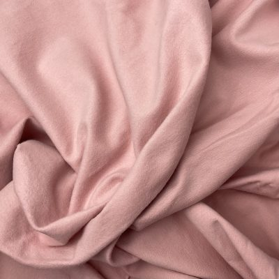 Brushed French Terry Fabric 250gsm Pink/Black and pink ribbing